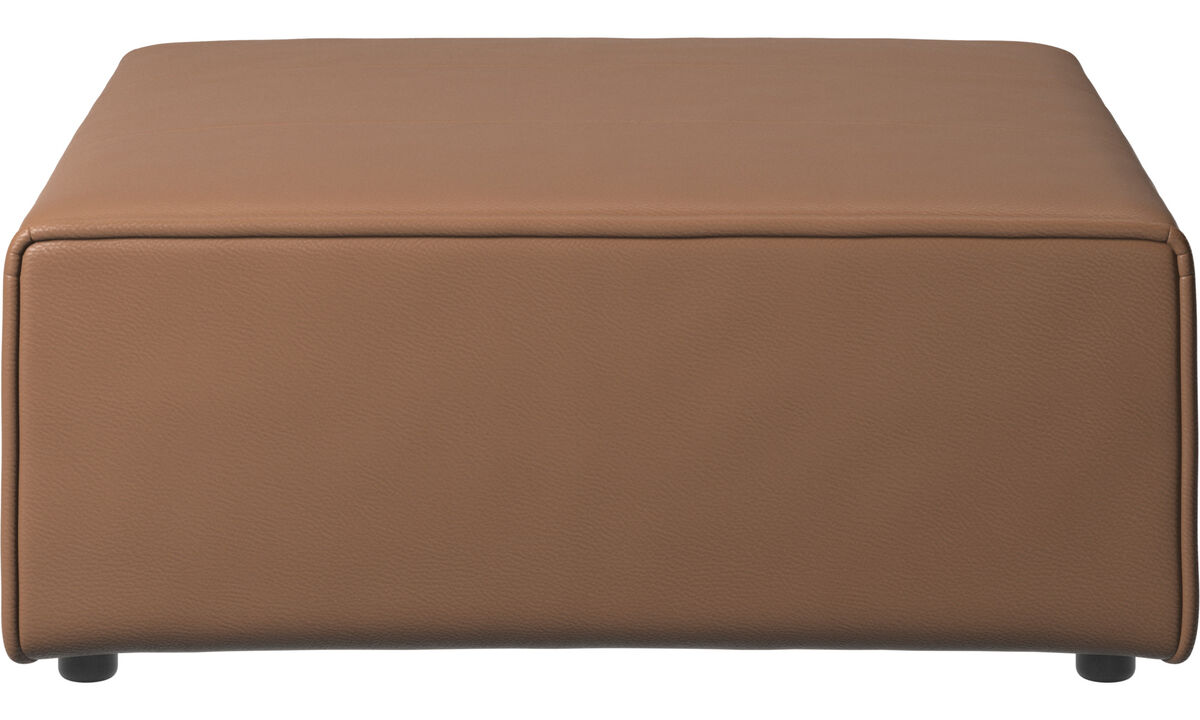 Modulárne sedačky - podnožka Carmo - Hnedá - Koža