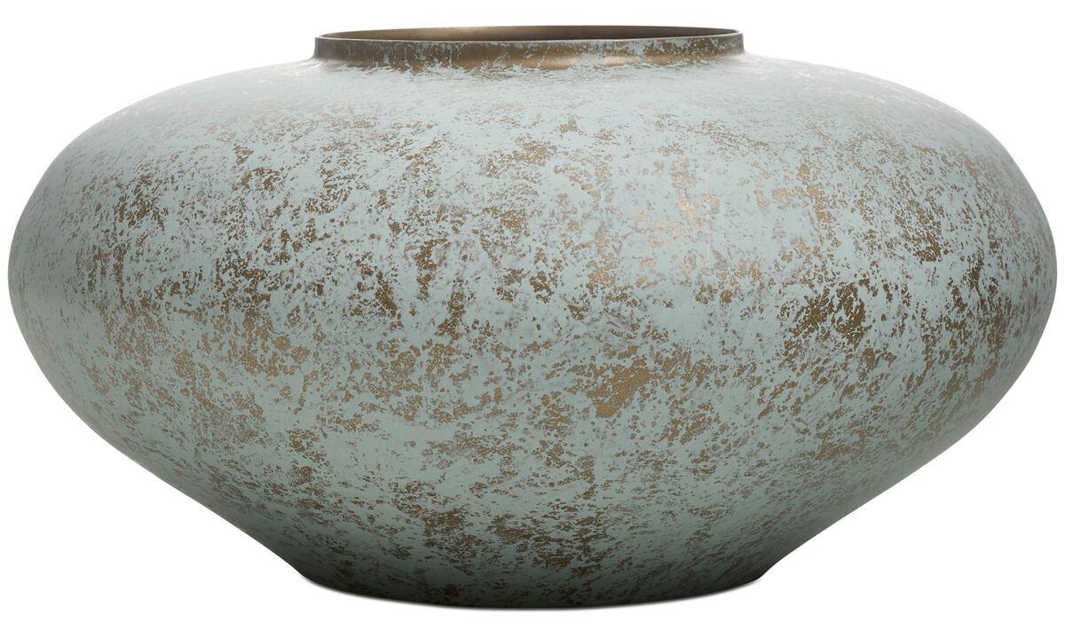 Vases - Edel vase - Green - Metal