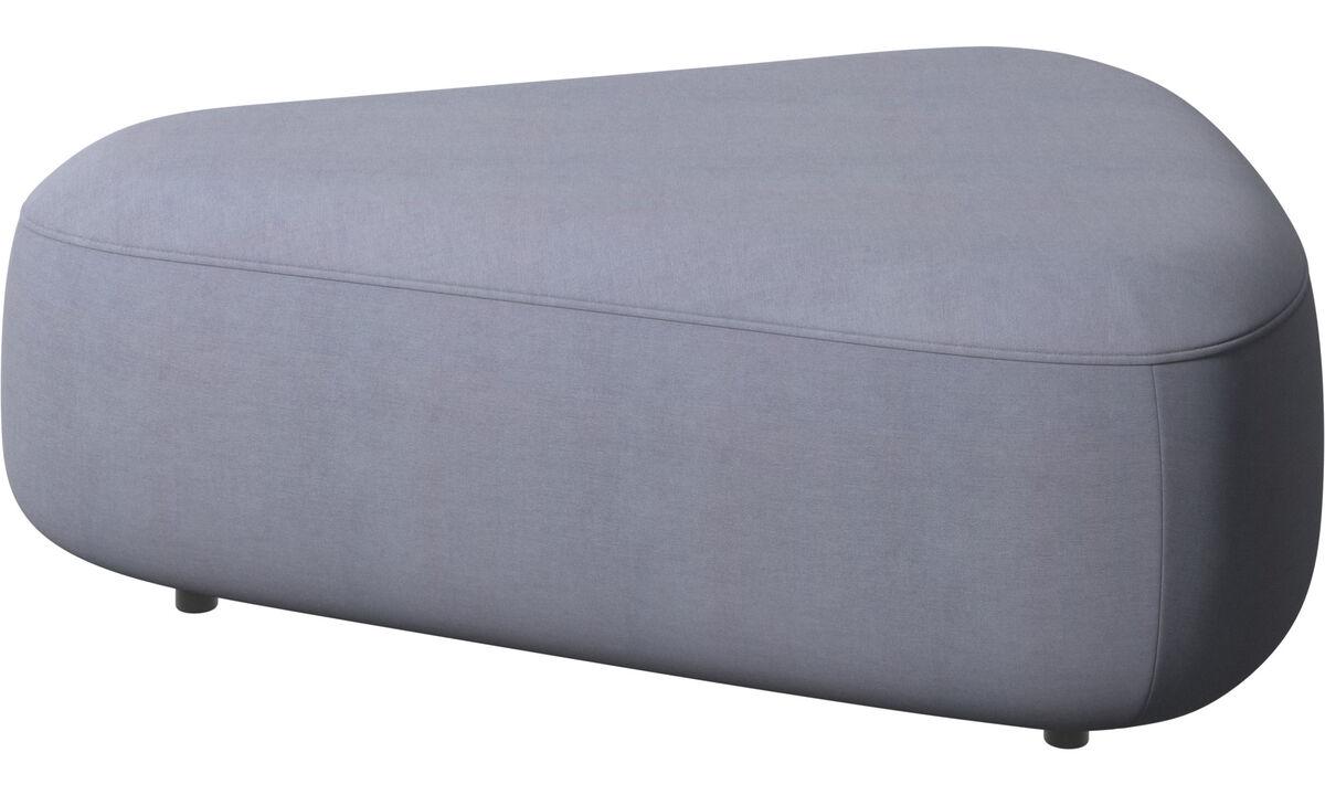 Modular sofas - Pouf triangolare Ottawa - Blu - Tessuto