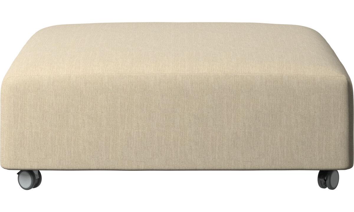 Ottomans - Hampton pouf on wheels - Brown - Fabric