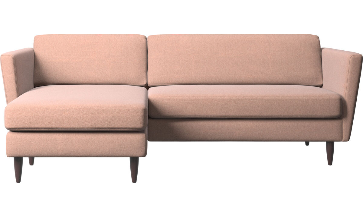 Chaise lounge sofas - Osaka sofa with resting unit, regular seat - Red - Fabric