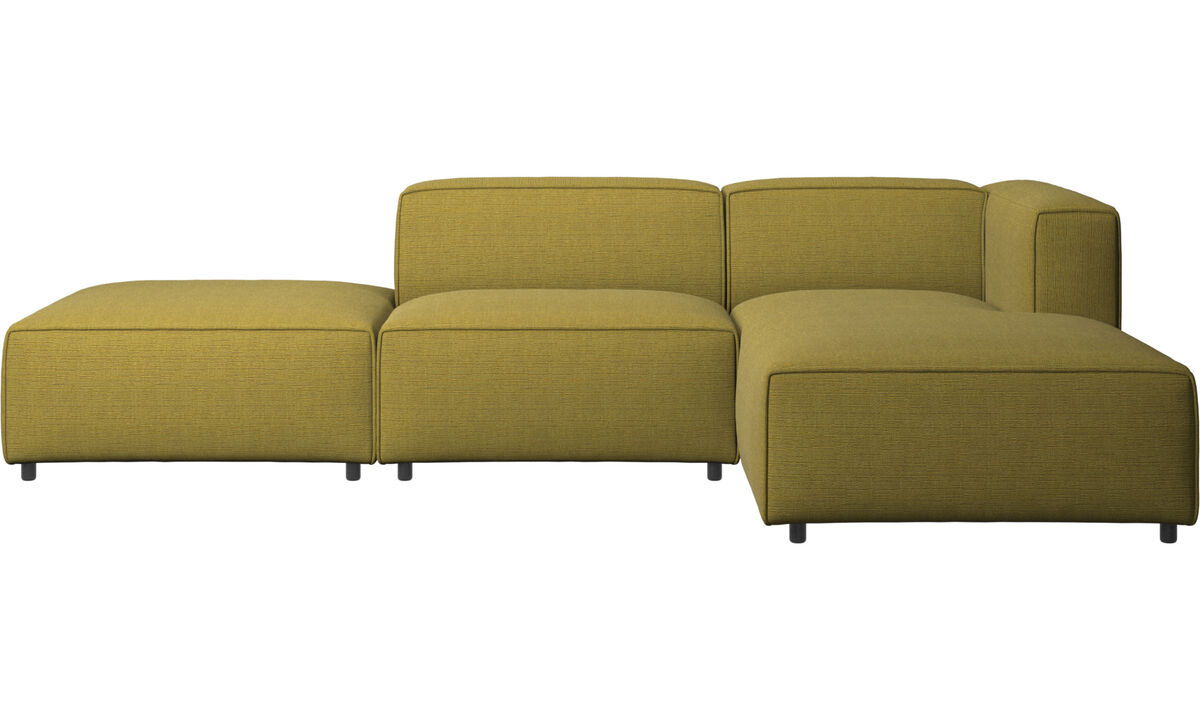 Chaise lounge sofas - Carmo sofa with resting unit - Yellow - Fabric