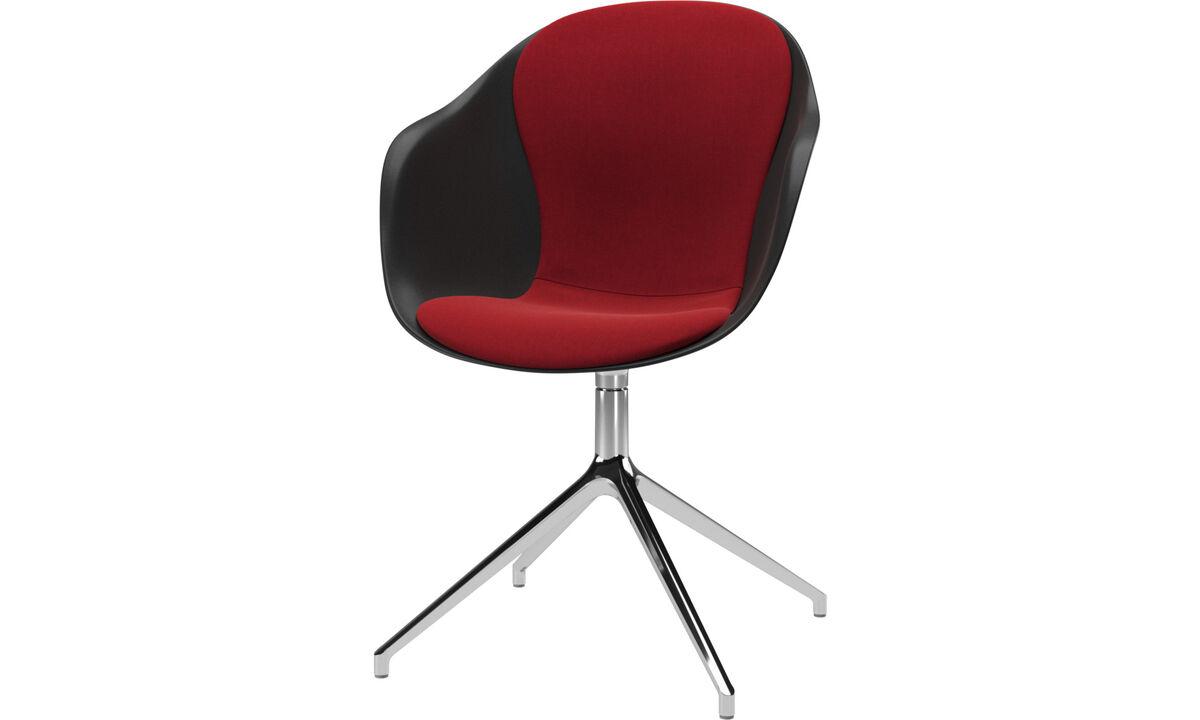 Spisestole - Adelaide stol med drejefunktion - Rød - Stof