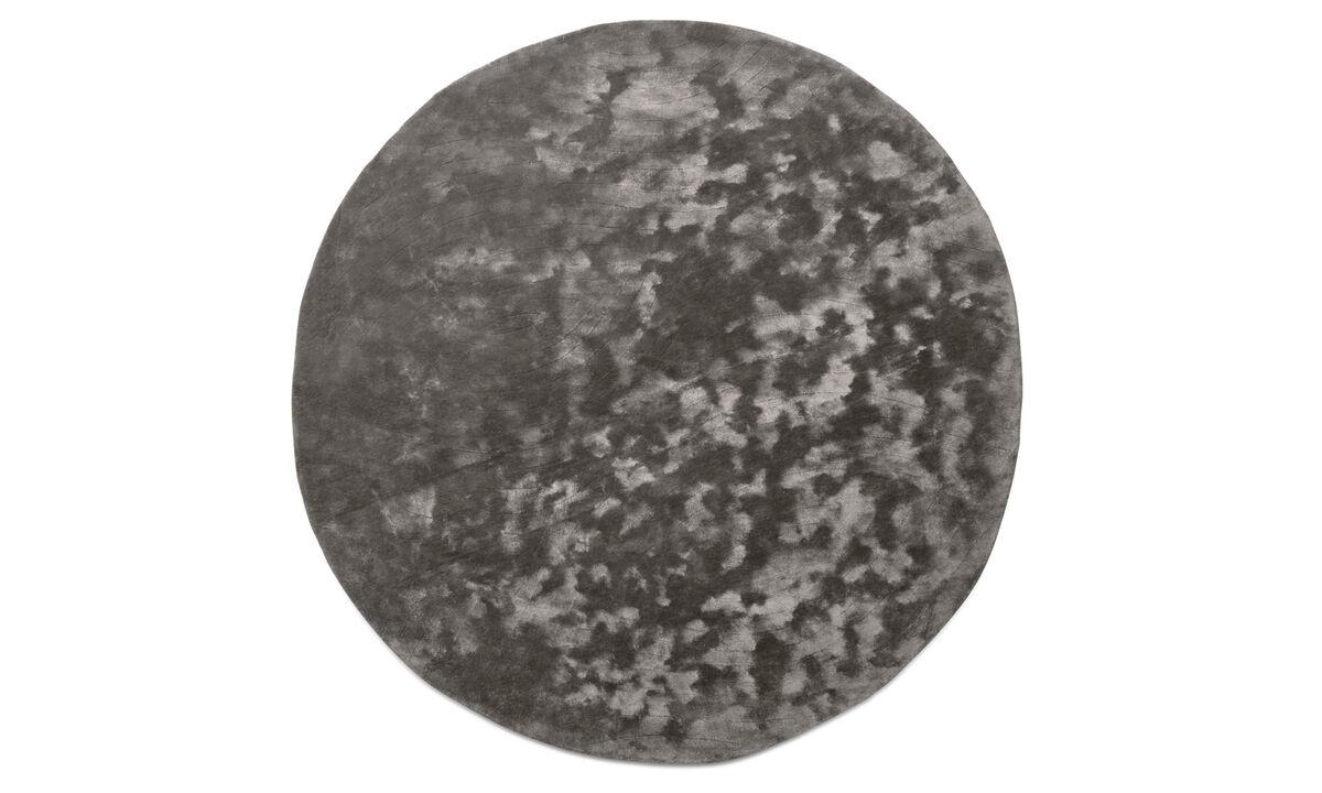 Tapis ronds - Tapis Shanghai - rotonde - Gris - Tissu