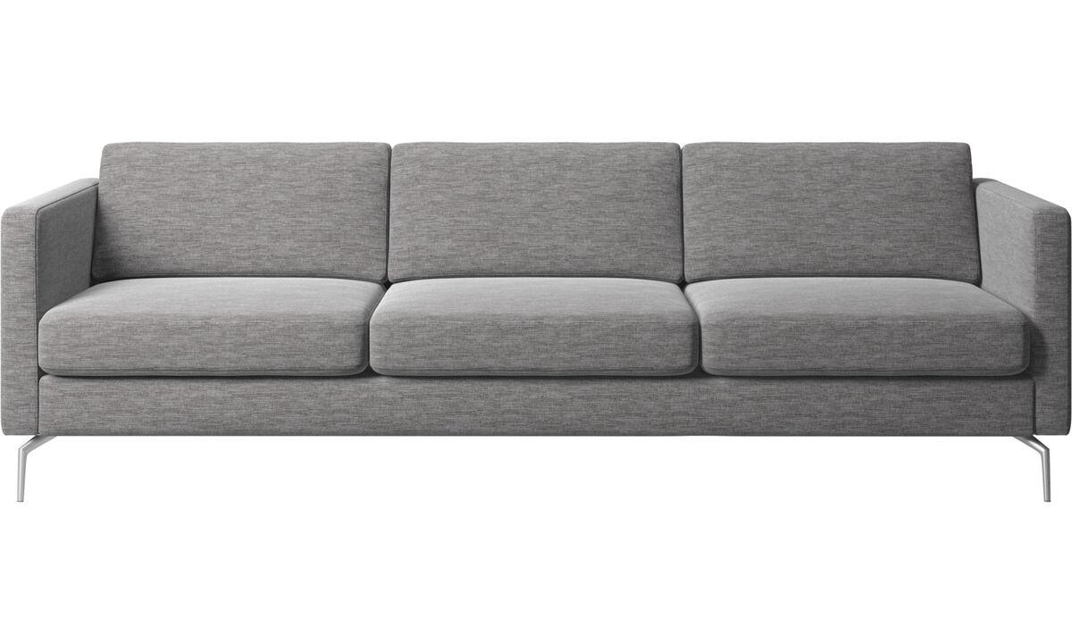 Sofás de 3 plazas - Sofá Osaka, asiento regular - En gris - Tela