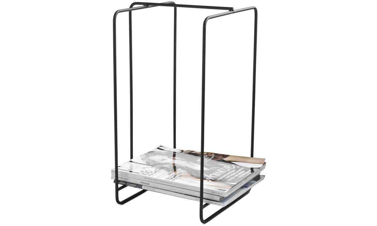 Small storage - Wire magazine holder - Black - Metal