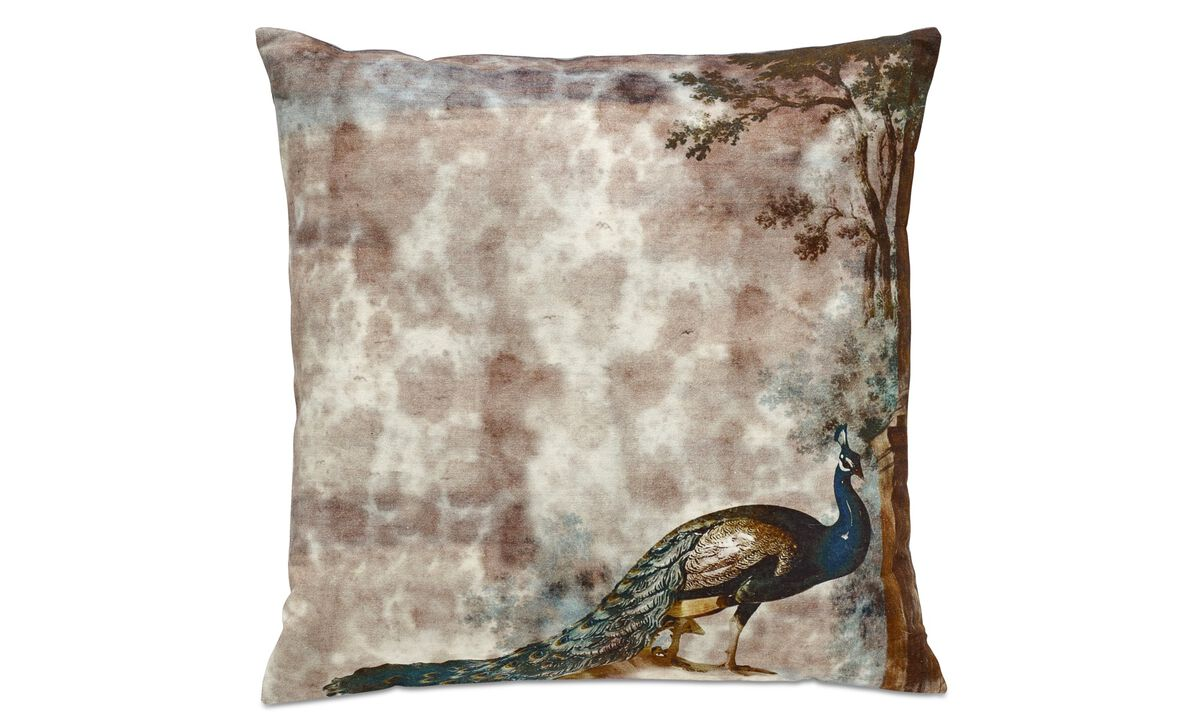 Cushions - Peacock cushion - Red - Fabric