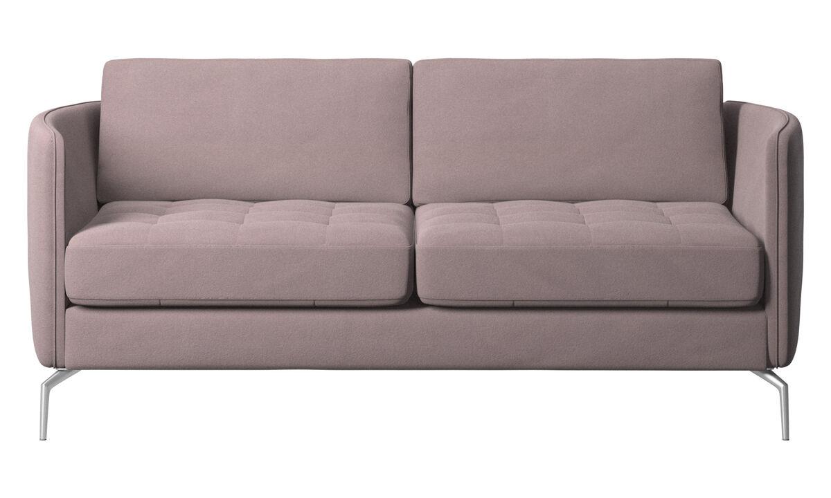 2-sitzer Sofas - Osaka Sofa, getuftete Sitzfläche - Lila - Stoff