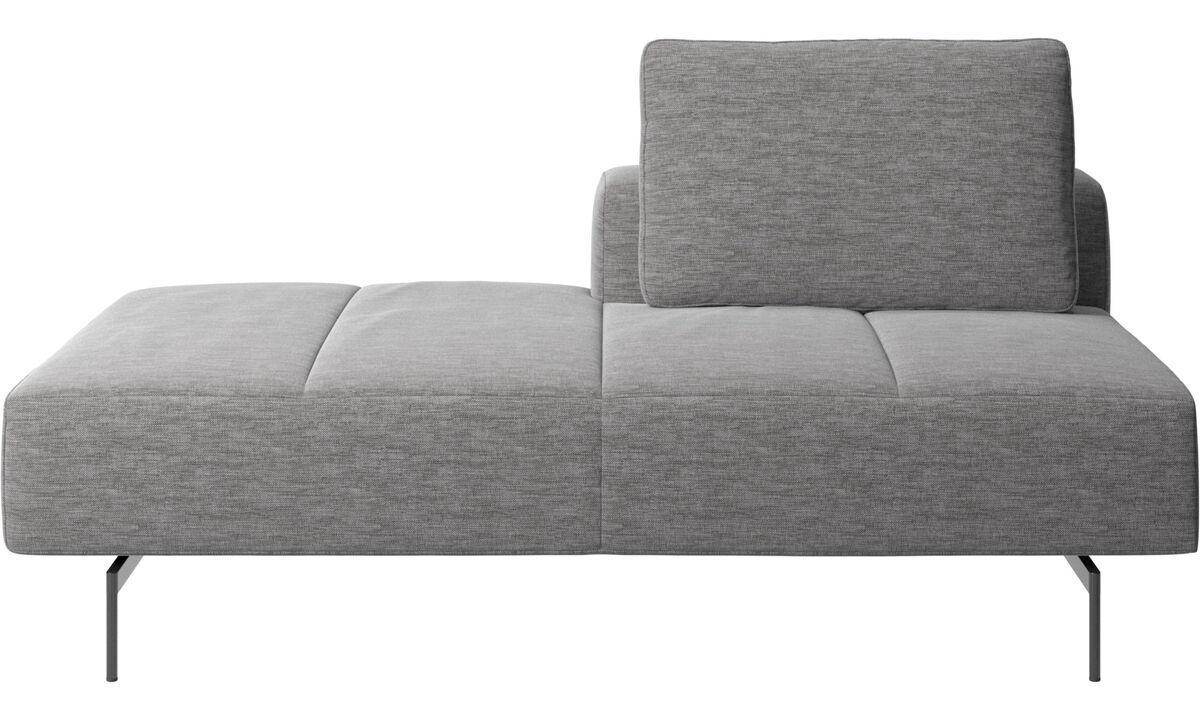 Sofaer med hvilemodul - Amsterdam modul til sofa, ryglæn højre, open end venstre - Grå - Stof