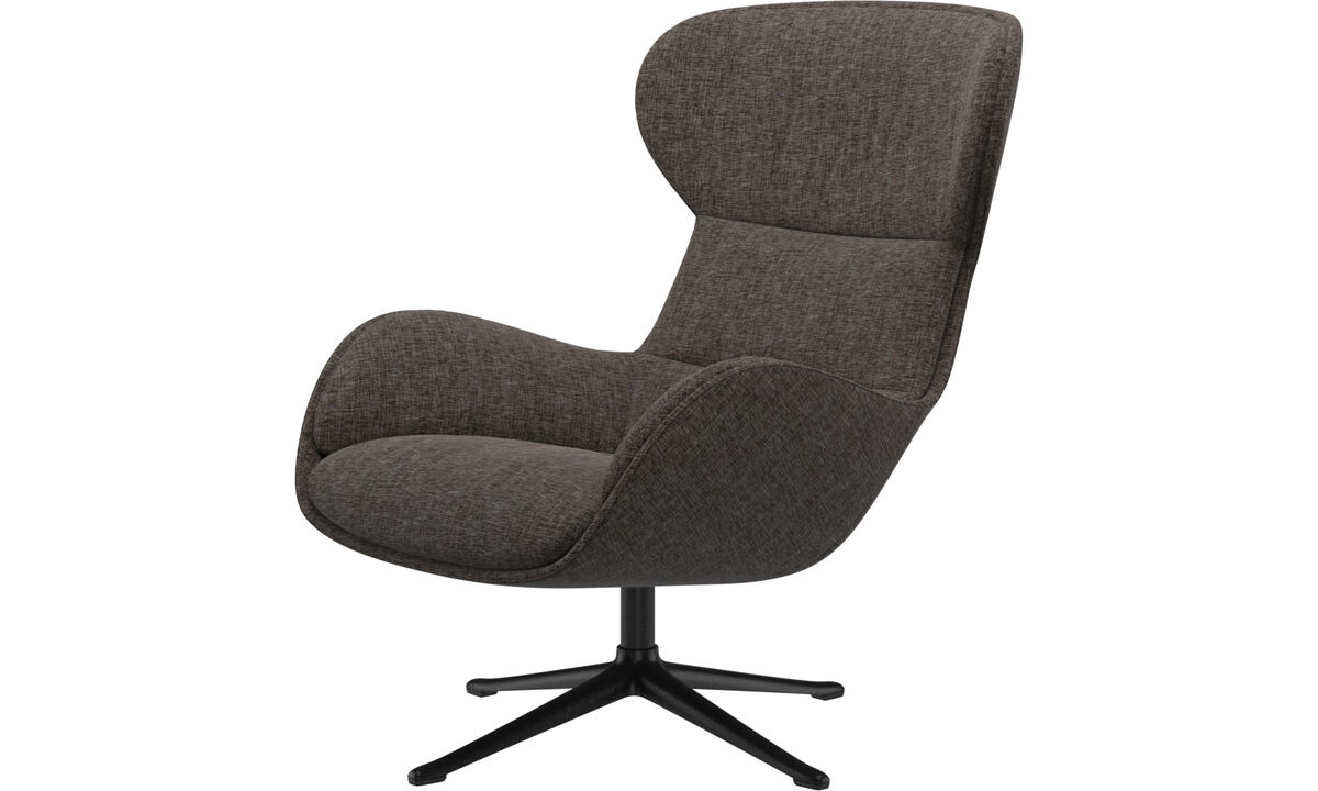 Recliners - Reno chair with swivel function - Brown - Fabric