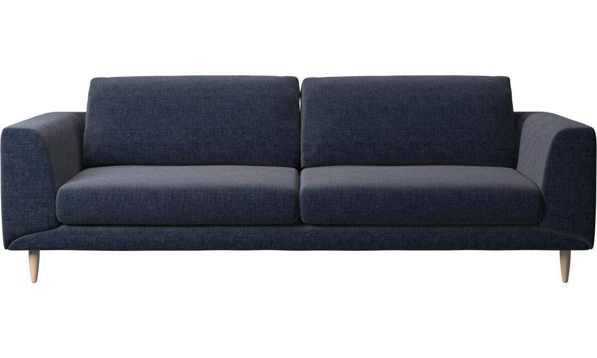 Navy Blue Napoli - Fargo sofa - Blue - Fabric