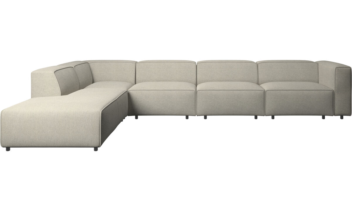 Sofas with open end - Carmo motion corner sofa - Beige - Fabric