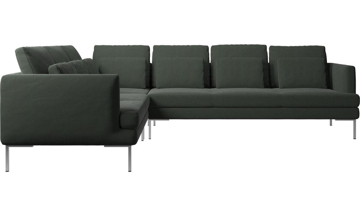 Sofás de canto - sofá de canto Istra 2 - Verde - Tecido