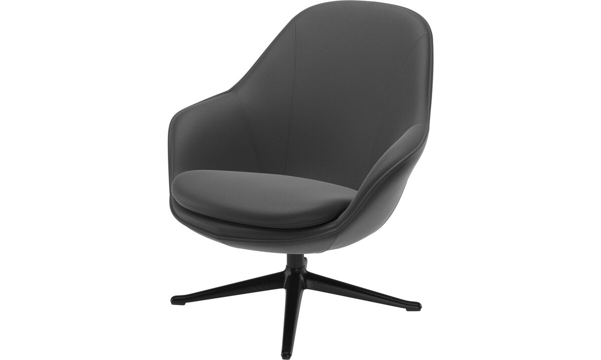 Armchairs - Adelaide living chair - Black - Leather