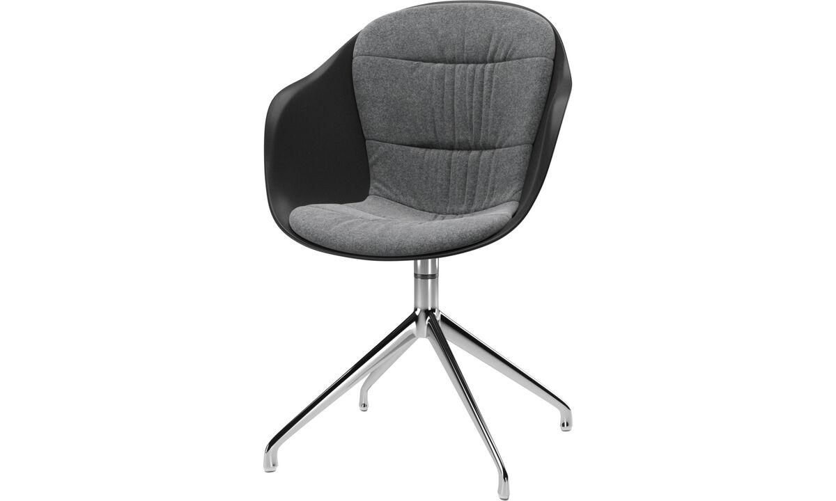 Krzesła do jadalni - krzesło Adelaide na obrotowej nodze - Szary - Tkanina