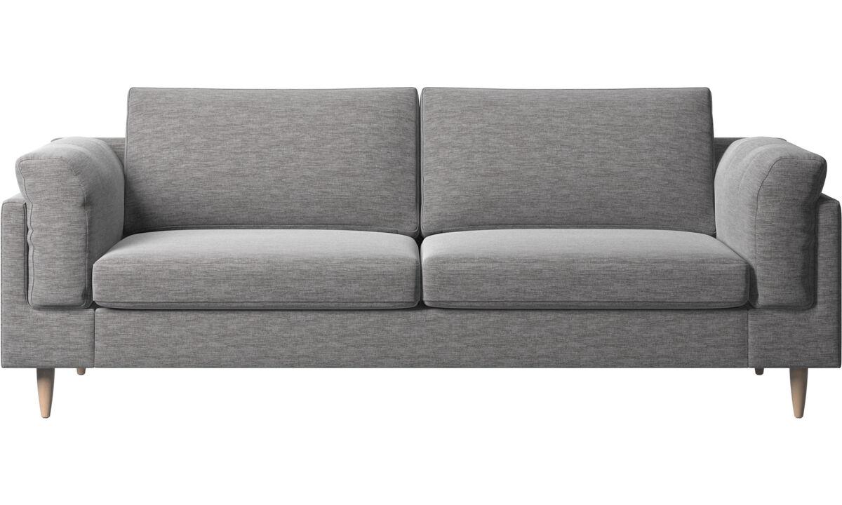 2.5 seater sofas - Indivi 2 divano - Grigio - Tessuto