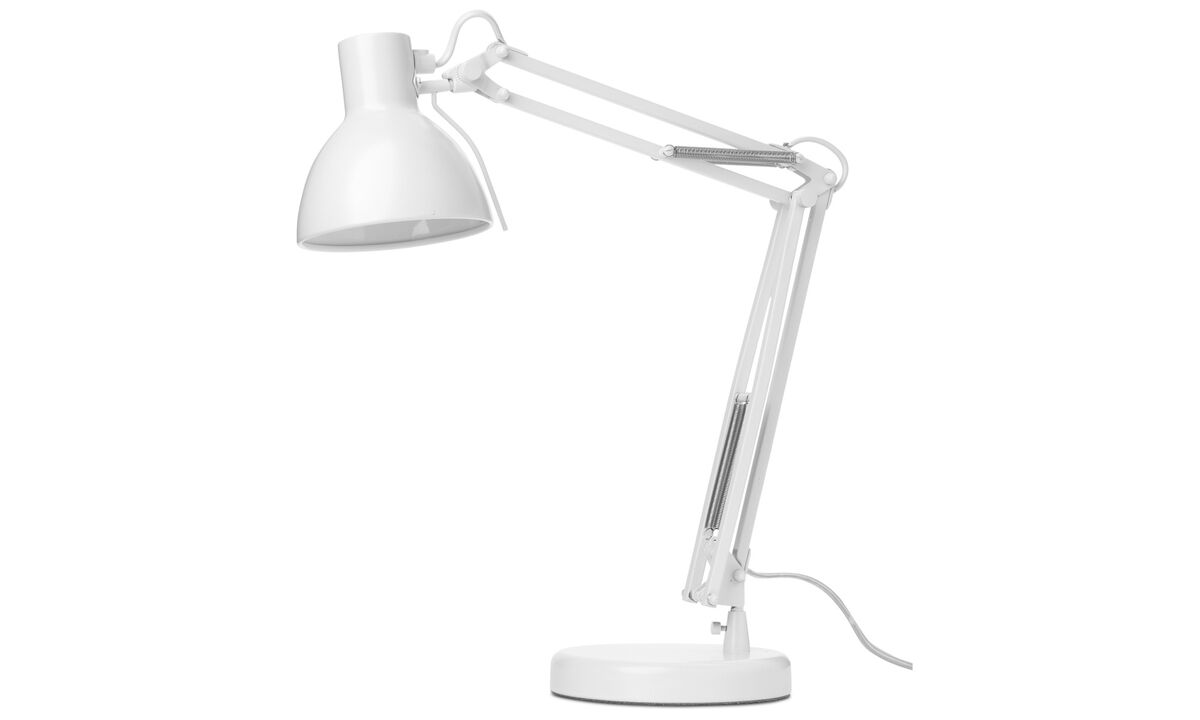 Table lamps - Work table/wall lamp - White - Metal