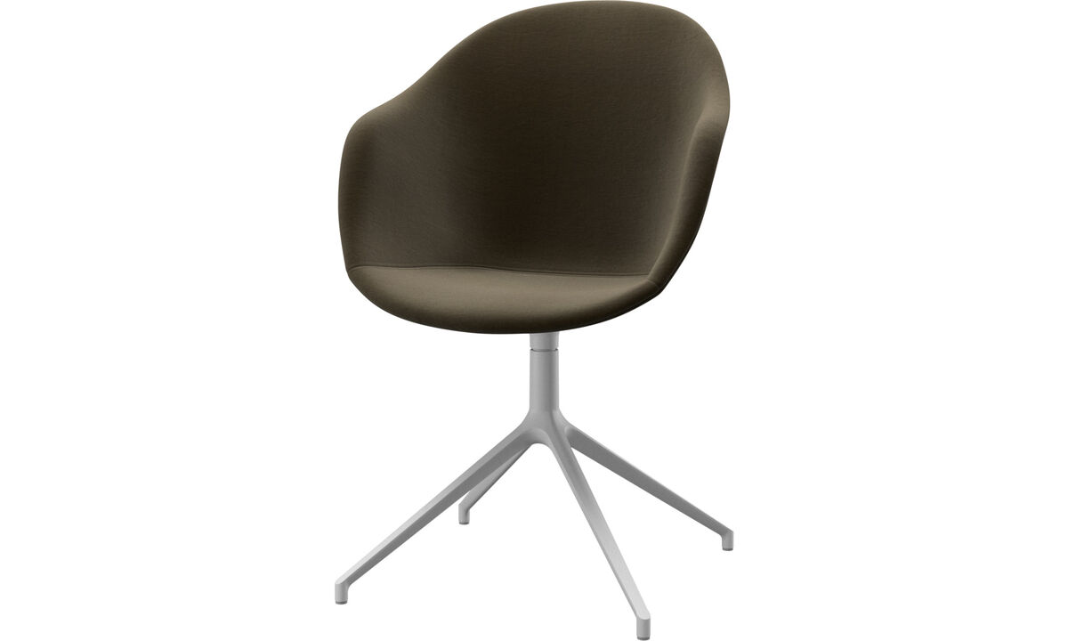 Dining Chairs Singapore - Adelaide chair with swivel function - Brown - Fabric