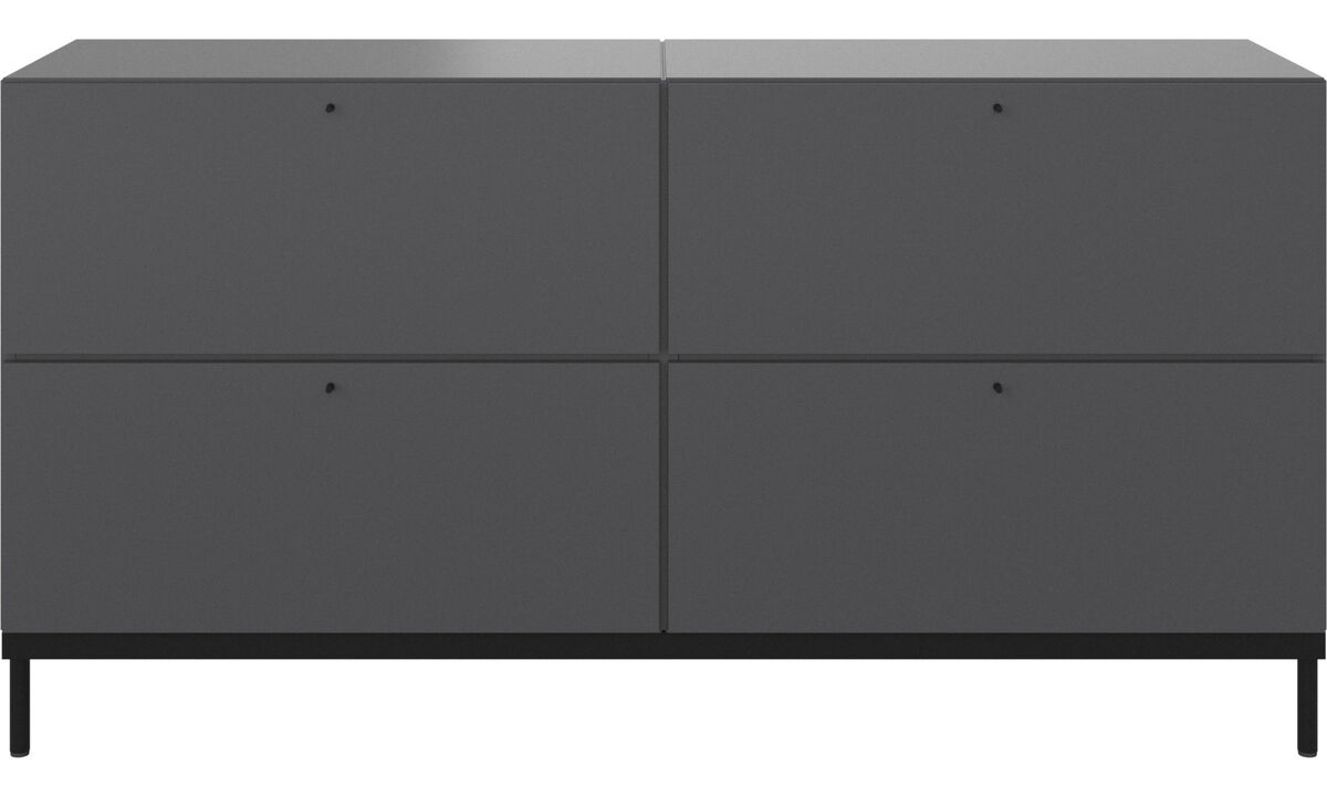 Wall systems - Atlanta base cabinet with drawers - White - Lacquered