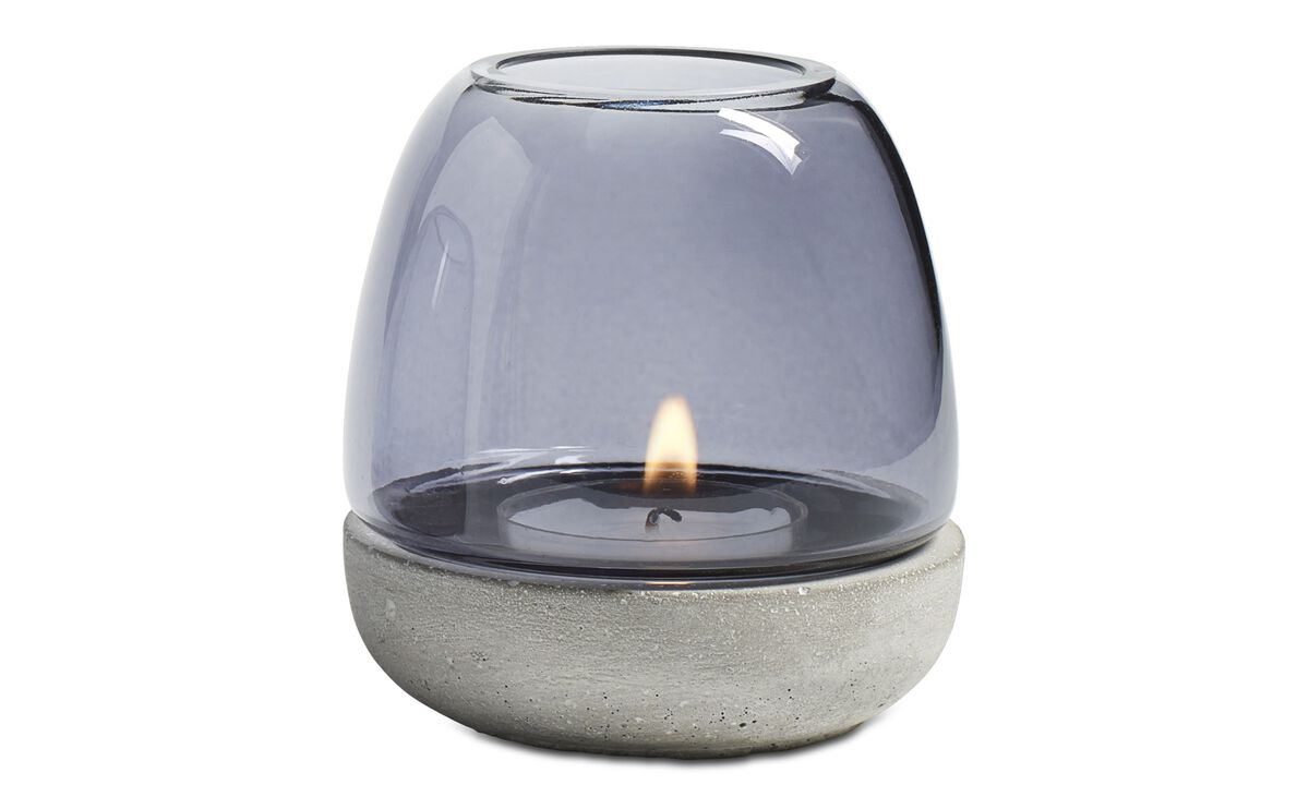 New designs - Combi tealight holder - Grey - Glass