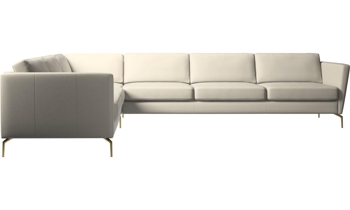 Corner sofas - Osaka corner sofa, regular seat - White - Leather