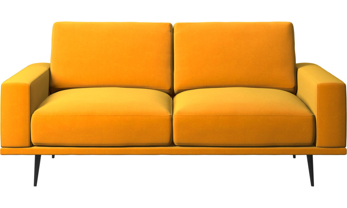 2 seater sofas - Carlton sofa - Orange - Fabric