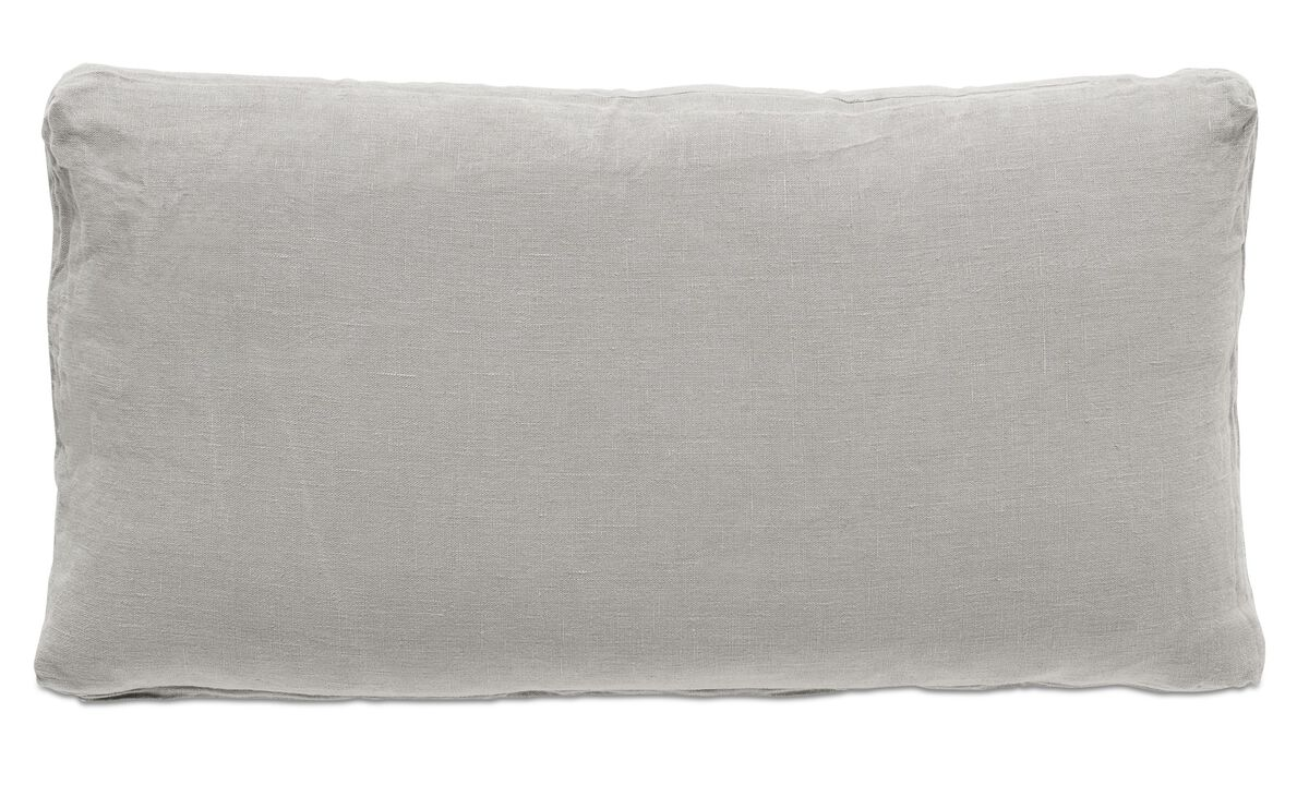 Cushions - Linen washed cushion - Brown - Fabric