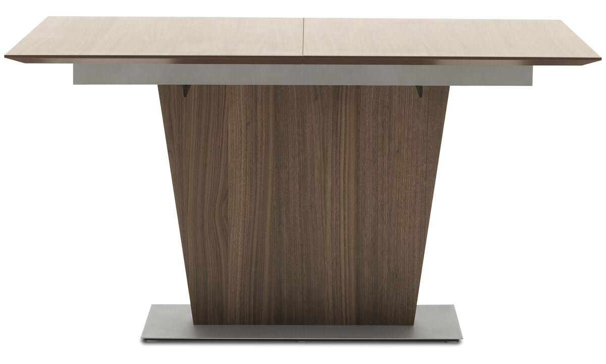 Dining tables - Milano table with supplementary tabletop - square - Brown - Walnut