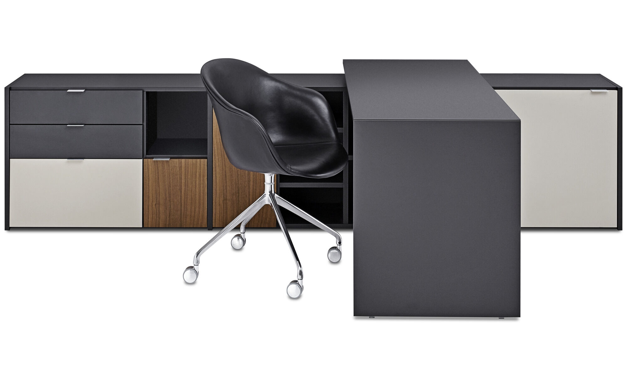 Desks   Copenhagen Office System   Gray   Lacquered