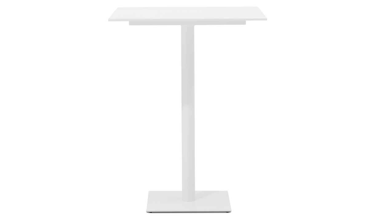 Conference tables - Torino bar table - square - White - Lacquered