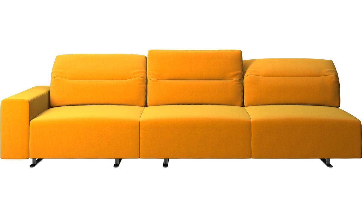 3 seater sofas - Hampton sofa with adjustable back - Orange - Fabric
