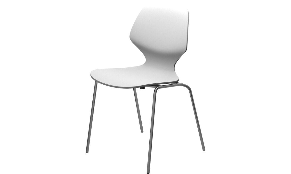 Обеденные стулья - cтул Florence - Белый - Лак