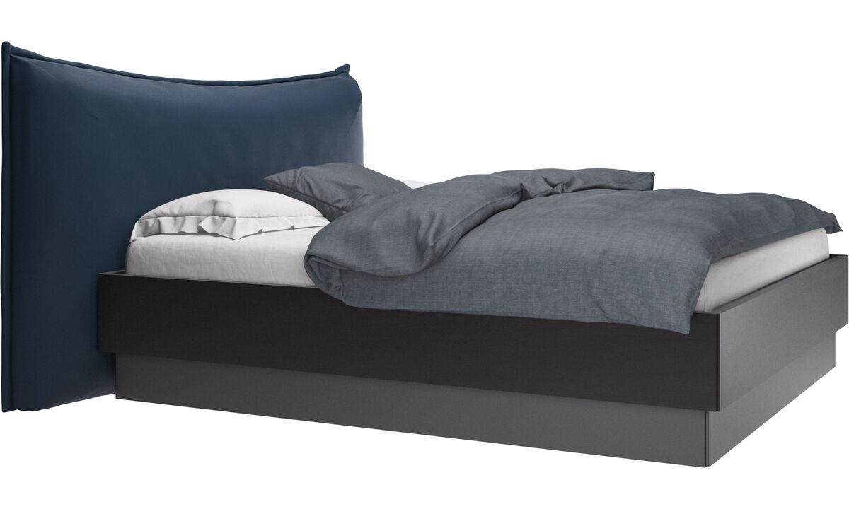 Nuevas camas - Cama con canapé, estructura elevable y tablado, no incluye colchón Gent - En azul - Piel