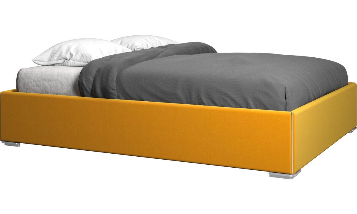 Nuevas camas - cama con canapé Mezzo, estructura elevable y tablado, no incluye colchón - Naranja - Tela