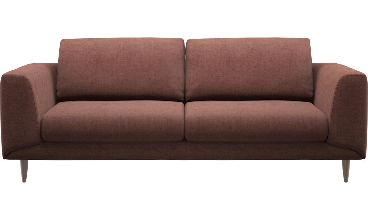 Sofás de 2 plazas y media - sofá Fargo - Rojo - Tela
