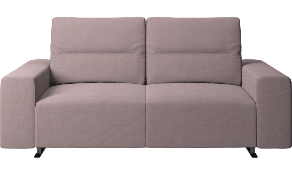 2-sitzer Sofas - Hampton Sofa mit verstellbarer Rückenlehne und Stauraum auf der rechten Seite - Lila - Stoff