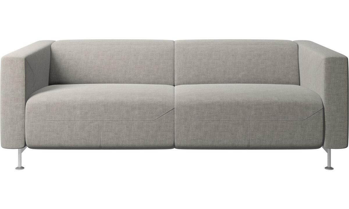 2.5 seater sofas - Parma reclining sofa - Grey - Fabric