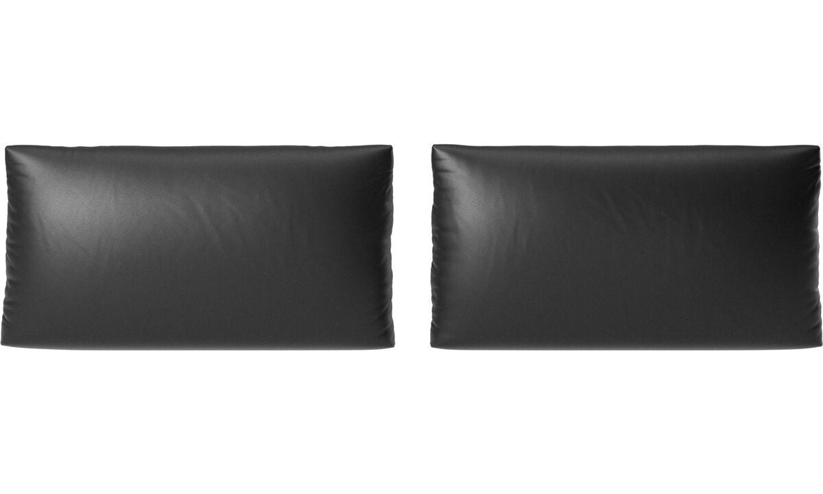 Accesorios para muebles - cojines de sofá Nantes - En negro - Piel