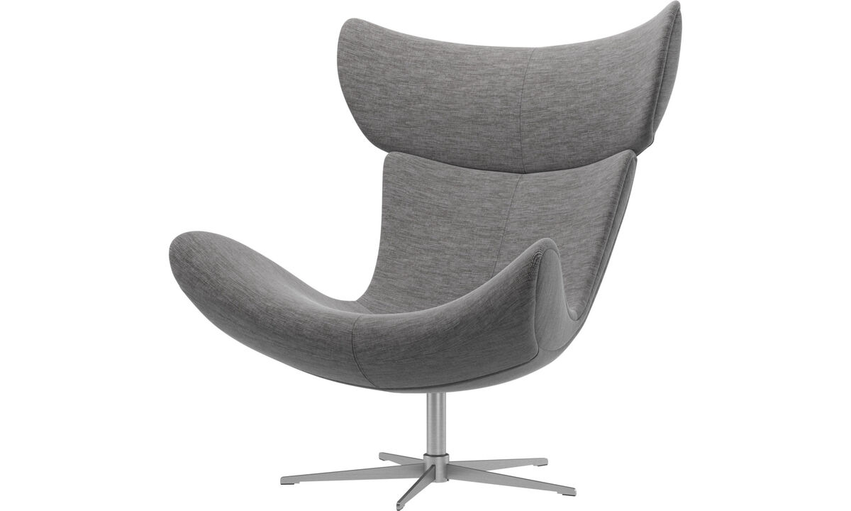 Armchairs - Imola chair with swivel function - Grey - Fabric