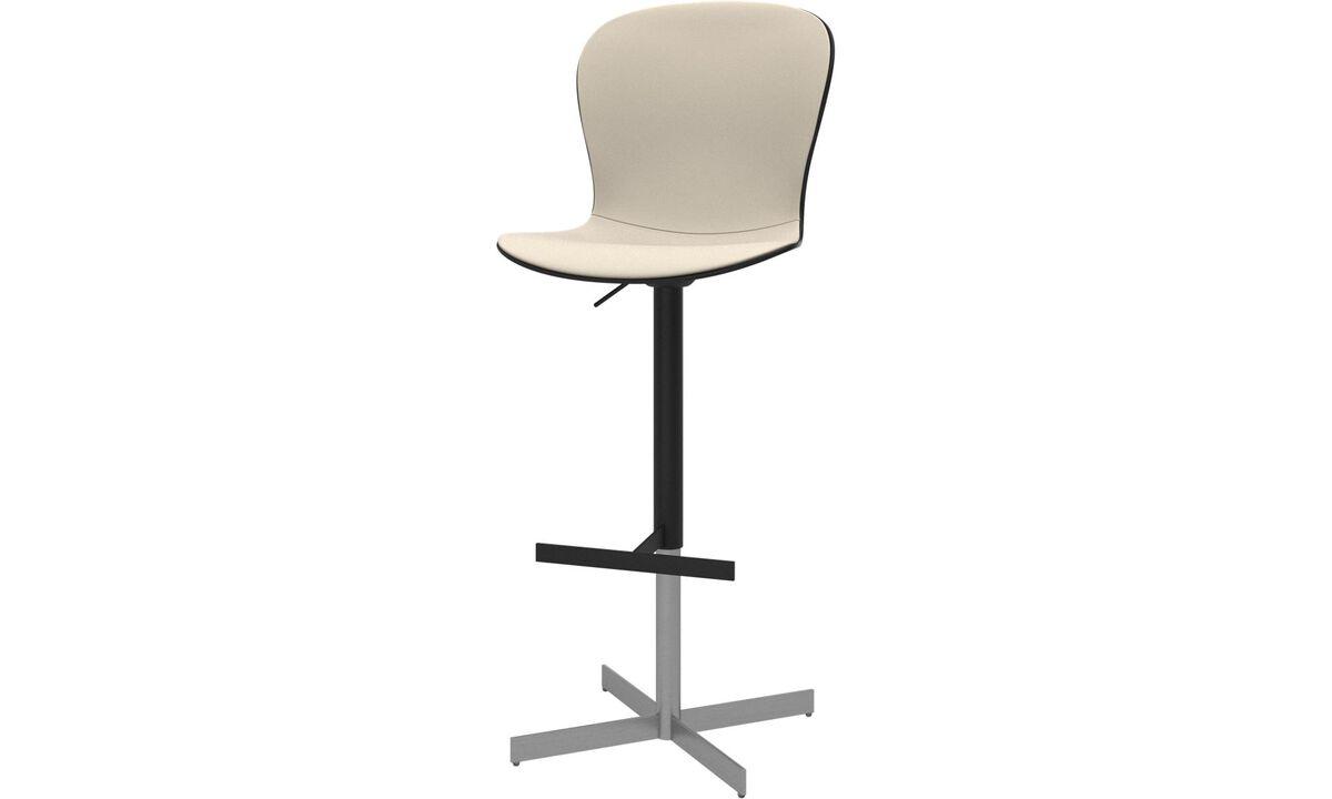 Barstole - Adelaide barstol med gaspatron - Hvid - Læder