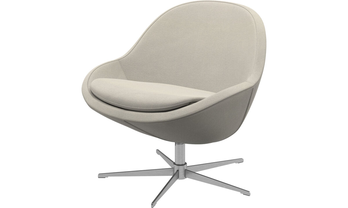 Armchairs - Veneto chair with swivel function - White - Fabric