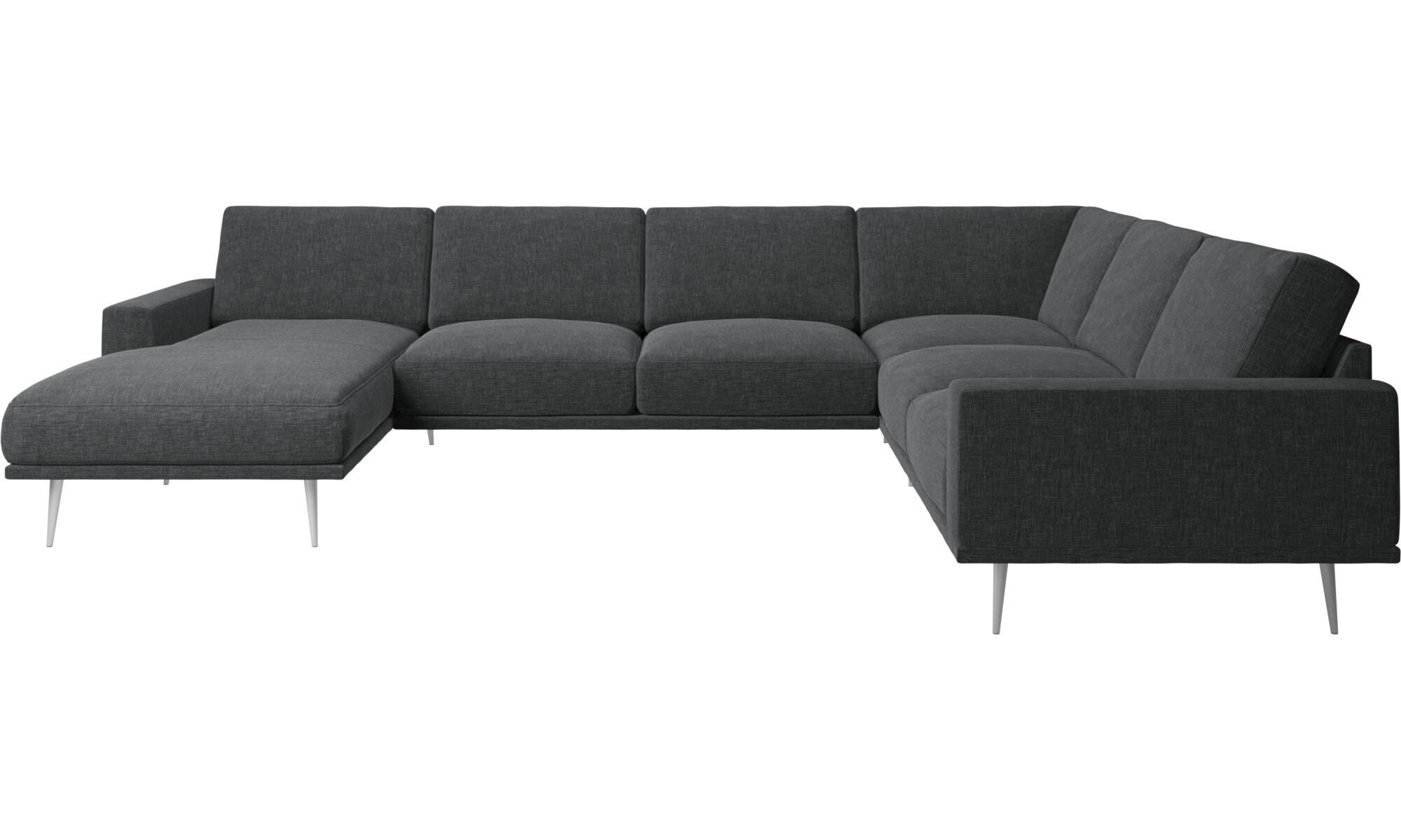 Chaise Lounge Sofas   Carlton Corner Sofa With Resting Unit   Gray   Fabric  ...