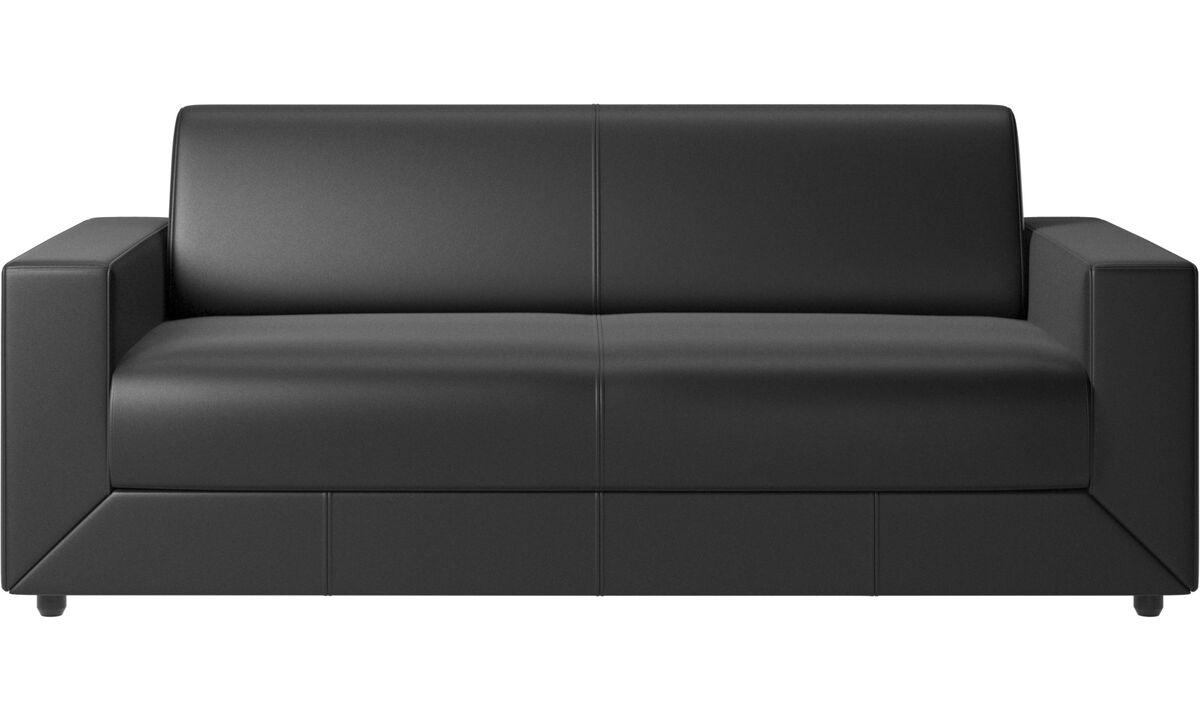 Sofa beds - Stockholm sofa bed - Black - Leather