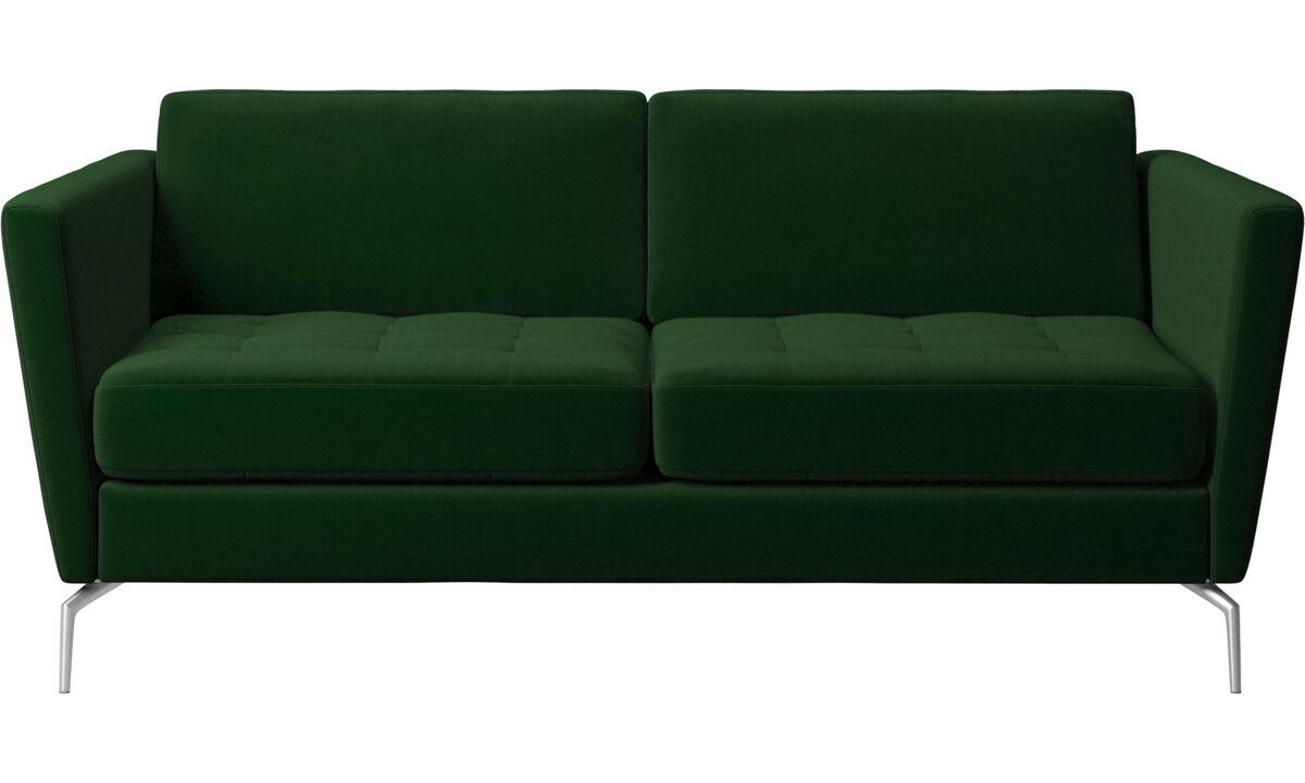 2 seater sofas - Osaka sofa, tufted seat - Green - Fabric
