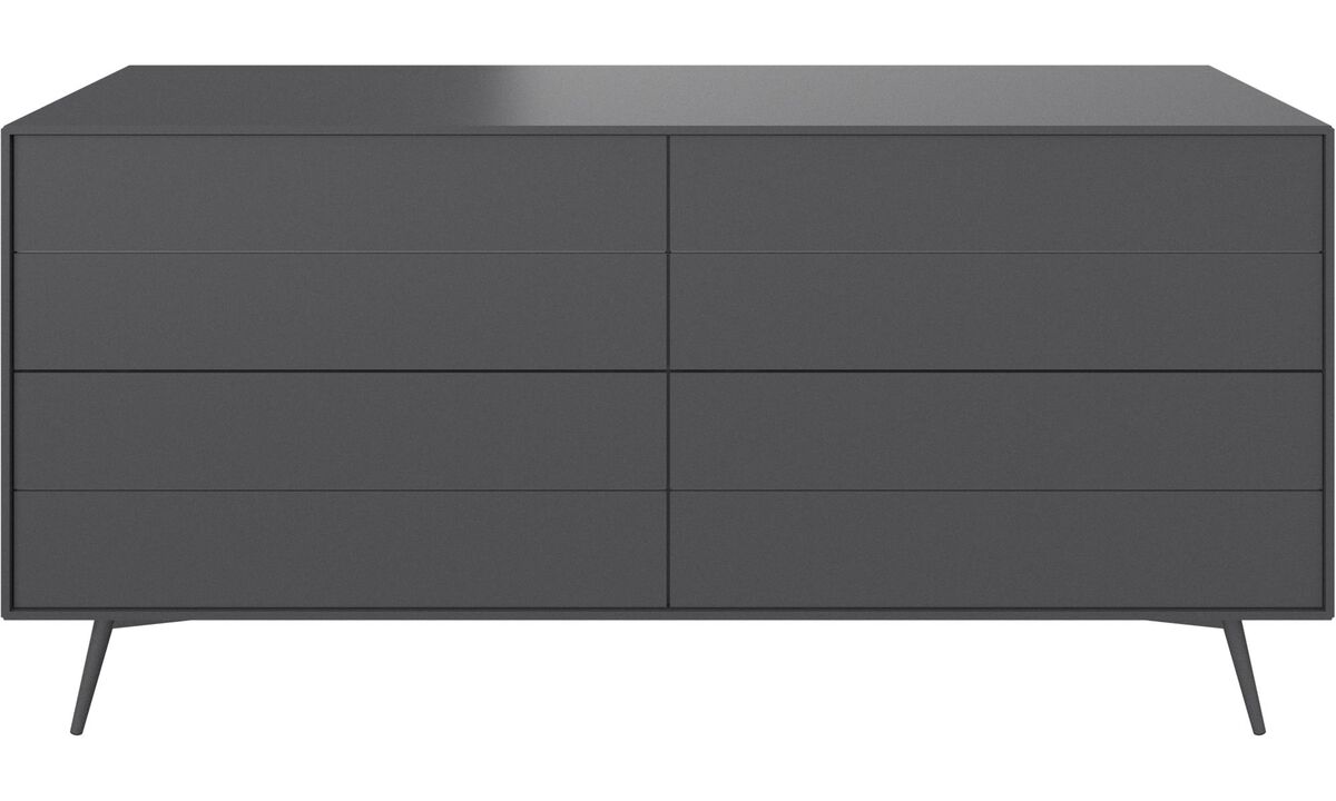 Chests of drawers - Fermo chest - Gray - Lacquered