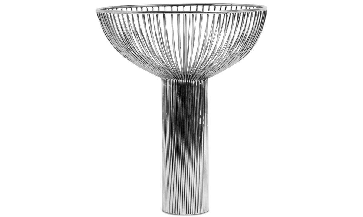 Vasen - Line Vase - Grau - Metall