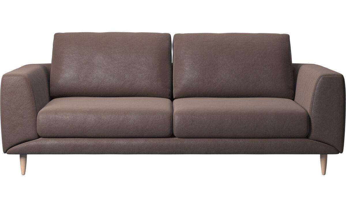 2.5 seater sofas - Fargo sofa - Brown - Leather