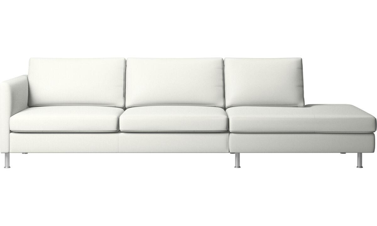 躺卧沙发 - Indivi 带躺卧单元的沙发 - 白色 - 革