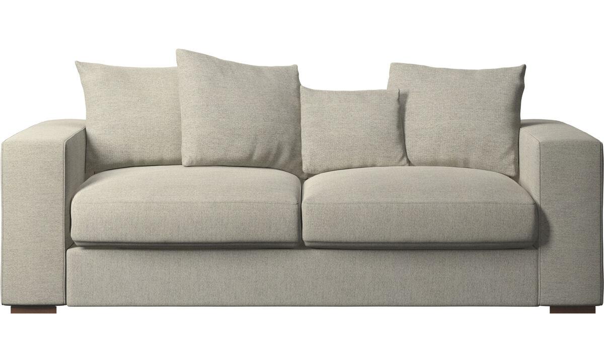 Sofás de 2 plazas y media - sofá Cenova - En beige - Tela