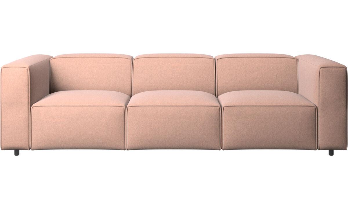 3 seater sofas - Carmo sofa - Red - Fabric